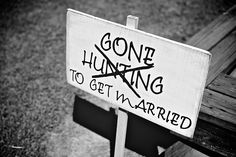 handmade rustic sign helps decorate and add some humor to a wedding - thereddirtbride.com - see more of this wedding here