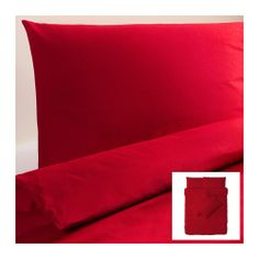 DVALA Duvet cover and pillowcase(s), red red Full/Queen (Double/Queen) - for pallet couch Red Duvet Cover, Quilt Cover, Duvet Cover Sets, Dream Bedroom, Home Bedroom, Bedroom Furniture, Ikea Duvet, Pallet Couch, Red Bedding