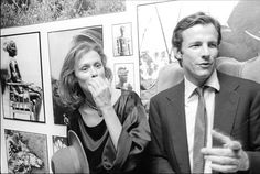 Lauren Hutton and Peter Beard at the opening of his exhibition