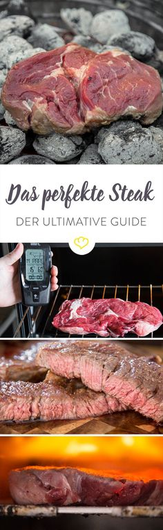 Prepare the perfect steak - the ultimate guide - Rezepte - Meat Recipes Beef Steak Recipes, Grilling Recipes, Meat Recipes, Cooking Recipes, Healthy Recipes, Slow Cooking, Clean Eating Recipes, Healthy Eating, Gourmet