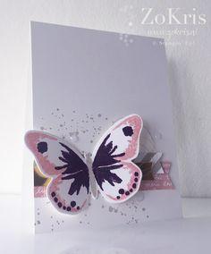 ZoKris: Watercolor Wings- Blushing Bride, Blackberry Bliss