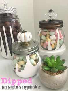 Dripped Mason Jar Gift Ideas from MichaelsMakers  Tatertots and Jello