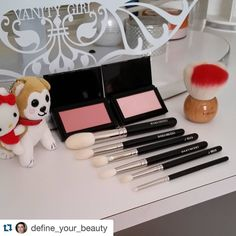 #Repost @define_your_beauty with @repostapp.  A little haul from @fudejapan.  Addiction blushes in winter blush and highlighter in fall in love. Kihitsu cat paw brush and hakuhodo eyeshadow brushes. Thank you @toshiyafukuma for everything! I love the little Hachi and kittychan! #kihitsubrush #kihitsu #hakuhodo #fudejapan #addictionblush #beautyjunkie #makeupjunkie #makeupaddict #makeupporn