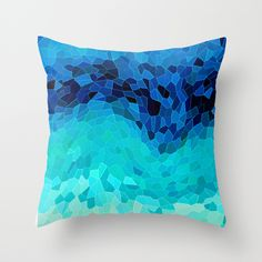INVITE TO BLUE Throw Pillow by Catspaws - $20.00