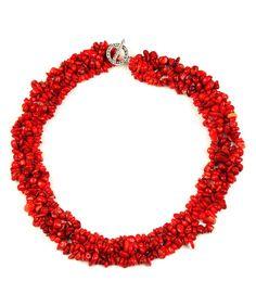 Eye Candy LA | Red Agate Cluster Statement Necklace by Eye Candy LA #zulily #zulilyfinds
