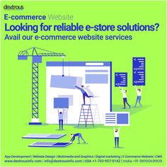 Grow your online sales with a simplified and customized e-commerce website. Dextrous provides you fully automated e-commerce websites with extensive features and proven technology with minimum risk at highly affordable prices. Website Development Company, App Development, Online Marketing, Digital Marketing, Website Services, Ecommerce Website Design, E Commerce Business, Online Sales, Multimedia