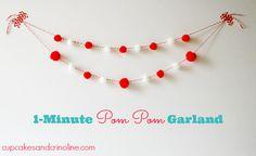 Pom Pom Garland from Cupcakes and Crinoline