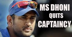 Indian cricket team's captain Mahendra Singh Dhoni resigned from the T20 captaincy and ODI, on Wednesday 4th Jan, 2017. After Ricky Pointing and Stephen