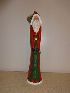 Santa Claus Tall & Thin Saint Nicholas by Niagara2you on Etsy