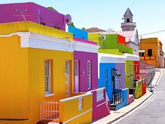 Bo-Kaap, Cape Town, South Africa - one of 10 Incredibly Colorful Cities You Wont Believe That Are Real Places Around The World, Oh The Places You'll Go, Places To Travel, Around The Worlds, Beautiful World, Beautiful Places, Namibia, Colourful Buildings, Colorful Houses