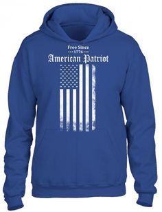 free since 1776 american patriot 2 HOODIE