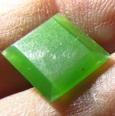 3.10ct AAA Green Nephrite Jade 11 x 9mm Rectangle Cut Untreated Natural Gemstone #Jewelsroughgems