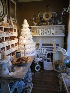 Beautiful shop display from Faded Charm's blog