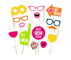 Mother's Day Photo Booth Props Mother's Day by PrintablePropShop
