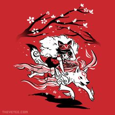 Okami: Amaterasu / Studio Ghibli: Princess Mononoke: San mashup t-shirt.  #okami #mononoke #ghibli