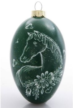 Traditional Czech etched egg ornament by Daniela M