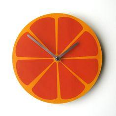 Objectify Fruity Wall Clocks by ObjectifyHomeware on Etsy, $24.00