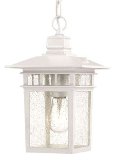 White Outdoor Lights Boxwood Indooroutdoor Hanging Lantern In White At Joss & Main