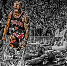 Nate Robinson and Bulls beat the Heat Nate Robinson, Just A Game, Beat The Heat, Sporty Girls, Sports Art, Chicago Bulls, Spiderman, Nfl, Superhero