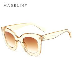 0d9067cbc9 2018 New Fashion Cat Eye Sunglasses Women Brand Designer Vintage Gradient  Cat Eye Sun Glasses Shades For Women
