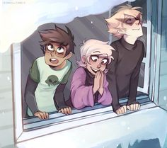 Spending the winter at Jane's! Aww it's the first time Jake and Dirk have ever seen snow! I'm not sure if Roxy has