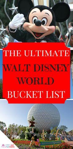 The ultimate walt disney world bucket list