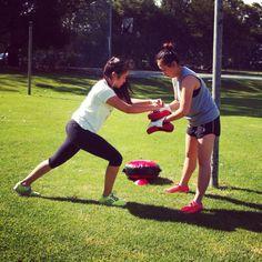 Sparring Sisters! - Week 6 of Boot Camp 2014