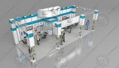 fair stand exhibition shop 3d model Er Metal Exhibition Stand Design