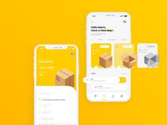InPost App Design Concept by Mariusz Kusiak for Intervi on Dribbble Hello Dribbblers! I'm coming with my first shot for mobile phones. This is our InPost concept for app. If you like my shots, click Pop Design, Iphone App Design, App Ui Design, Interface Design, User Interface, Best App Design, Wireframe Design, Flat Design, Graphic Design