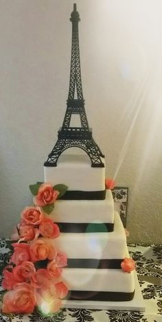 Food and drink Food and drink. Paris Birthday Cakes, Paris Themed Cakes, Paris Cakes, Sweet Sixteen Cakes, Sweet 16 Cakes, Parisian Wedding, Elegant Wedding Cakes, Paris Prom Theme, Bolo Paris
