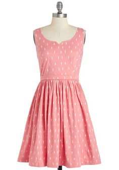 adorable errands dress in pink #modcloth
