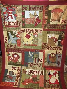 Quilt with an attitude-Love it! (especially-be positive and be respectful.)