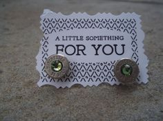 Bullet Earrings  Green by Sarahsjewelrydesigns on Etsy, $20.00