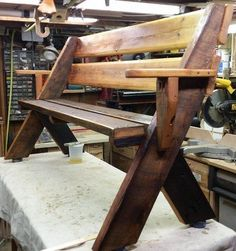 Leopold style bench #woodworkingbench