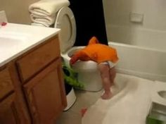 They can often be found with their heads in the toilet. | 26 Reasons Kids Are Pretty Much Just Tiny Drunk Adults