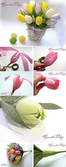 Букет из конфет мастер класс тюльпаны