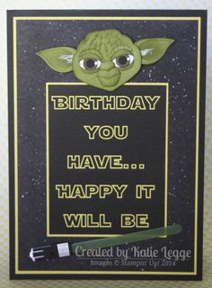 Star Wars Yoda card by Katie Legge, http://rachelleggestampinup.wordpress.com/2014/05/04/may-the-4th-be-with-you/