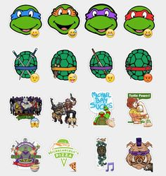 Teenage Mutant Ninja Turtles Stickers Set | Telegram Stickers