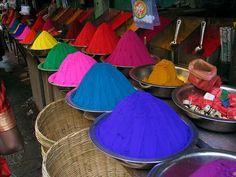 Tintes de color. Color Dyes. India. © Inaki Caperochipi Photography