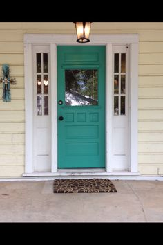 Who would of thought this color for the door would look good with a yellow house                                                                                                                                                      More