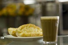 pão francês e pingado (café com leite) ♥
