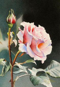 "Daily+Paintworks+-+""Pink+Rose""+-+Original+Fine+Art+for+Sale+-+©+Jacqueline+Gnott"