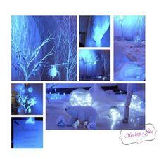 Décoration Mariage à Soie Décoration de mariage, mariage en hiver, wedding, mariage blanc, ambiance tamisée, arbre blanc, ours, flocons, neige éternelle