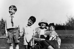 The Queen Marie of Yugoslavia and her three son: Prince Peter, Prince Tomislav and Prince Andre on May 1931 in Belgrade, Serbia. (Photo by Keystone-France/Gamma-Keystine via Getty Images) King Alexander, Queen Victoria, Belgrade Serbia, Still Image, Sons, Third, The Outsiders, Royalty, Prince