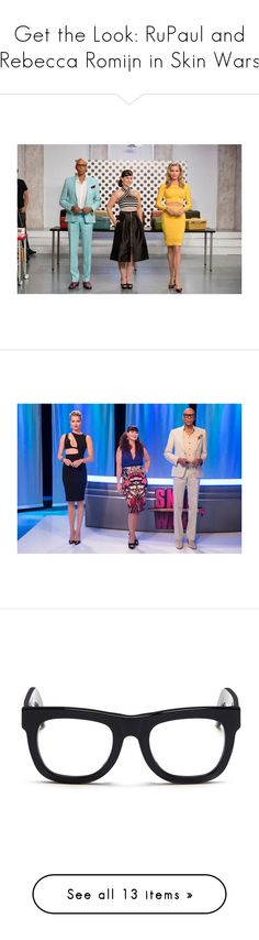 """""""Get the Look: RuPaul and Rebecca Romijn in Skin Wars"""" by polyvore-editorial ❤ liked on Polyvore featuring rupaul, rebeccaromijn, SkinWars, men's fashion, men's accessories, men's eyewear, men's eyeglasses, black, retrosuperfuture and outerwear"""