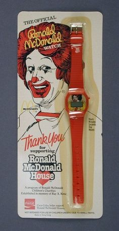 """Ronald McDonald Watch♣remember to get the """"official"""" not the cheap knockoff♣ツ Richard And Maurice Mcdonald, Ronald Mcdonald House, Barbecue Restaurant, Fast Food Restaurant, Fast Food Advertising, Mcdonalds Birthday Party, A Moment To Remember, Mcdonalds Toys, Fast Food Chains"""