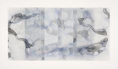 Dara Mark, Elegy Spirit Breath, watercolor on translucent synthetic paper, 2015 My Art Studio, Japanese Pottery, Black Felt, Asian Art, Vulnerability, Paper Art, My Arts, Tapestry, Watercolor