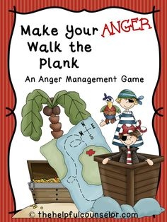 Pirate Anger Management Game! Free following directions behavior chart included.  #AngerManagement #PlayTherapy #SchoolCounseling $