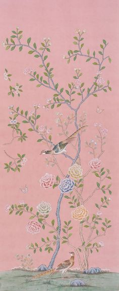 爱 Chinoiserie? Mai Qui! 爱  home decor in chinoiserie style  - hand painted de Gournay wallpaper