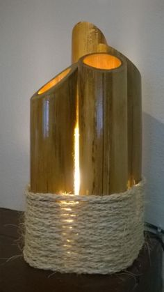 Lampara de bambu